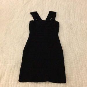 Express Sexy Black Bodycon Dress